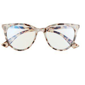 Nordstrom BP 50mm Small Blue Light Blocking Glasses in Grey Tortise